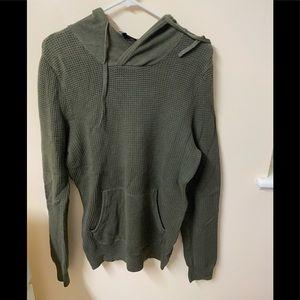 Express Green Textured Knit Hoodie